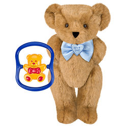 It's a Boy Bowtie Teddy Bear with Rattle