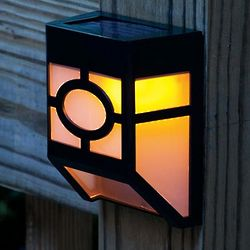 Mission Style Solar Deck Accent Lights