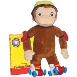Curious George Plush Roller Monkey and DVD