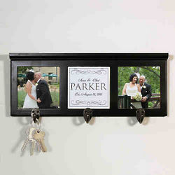 Personalized Wedding Photo Coat Rack