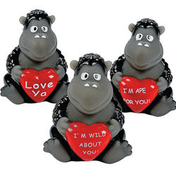 One Dozen Mini Gorillas with Heart