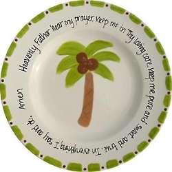 Personalized Palm Tree Prayer Plate