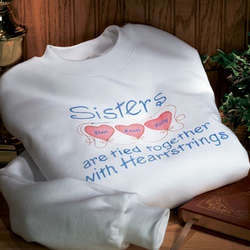 Personalized Sisters Heartstrings Sweatshirt
