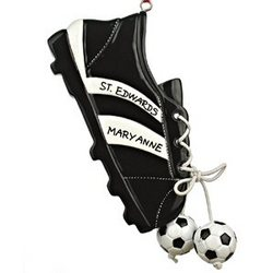 Soccer Cleat Personalized Christmas Ornament