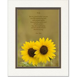 Friendship Poem Personalized Sunflowers Print