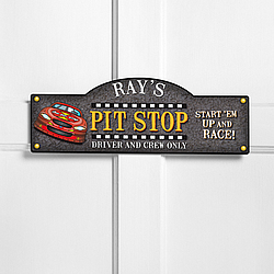 Personalized Start Your Engines Kid's Room Sign