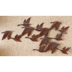 Flock of Geese Metal Wall Decor