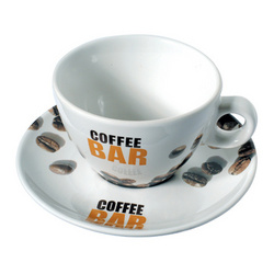 Coffee Bar Cup and Saucer Set of 6