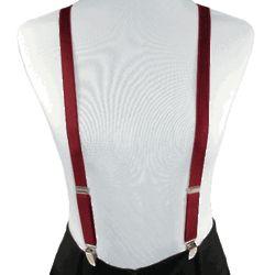 3/4 Inch Thin Satin Skinny Suspenders