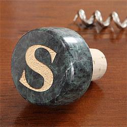 Regent Monogram Marble Wine Stopper