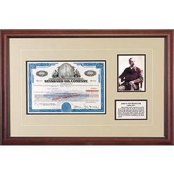 Framed Standard Oil Stock Certificate