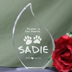 Forever in Our Hearts Pet Memorial Tear Plaque