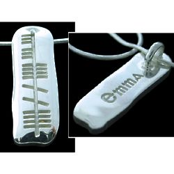 Solid Silver Ogham Name Pendant