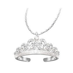 Royal Wedding Tiara Pendant Necklace