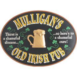 Personalized Oval Irish Pub Sign