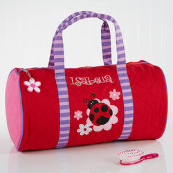 Ladybug Personalized Girl's Duffel Bag
