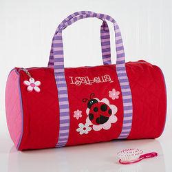 Ladybug Personalized Girl's Duffel Bag