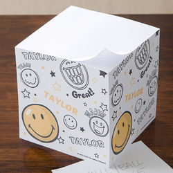 Personalized Smiley Face Note Pad