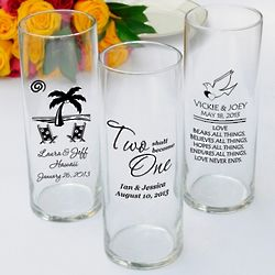Personalized Wedding Reception Vase