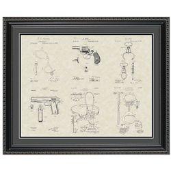 Police & Detective Equipment 20x24 Framed Patent Art