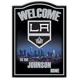 Los Angeles Kings Personalized Welcome Sign