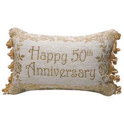 Happy 50th Anniversary Pillow