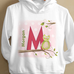 Owl About You Personalized Toddler Hooded Sweatshirt