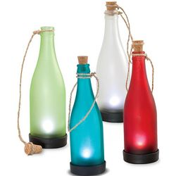 Colorful Solar-Powered Bottle Light