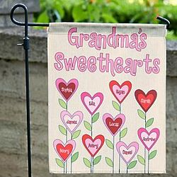 Personalized Garden of Love Flag