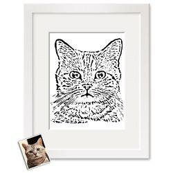 Paper Cut Custom Portrait Art Print
