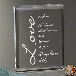 Because of You Personalized Plaque