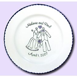 Wedding Attire Signature Platter Guest Book
