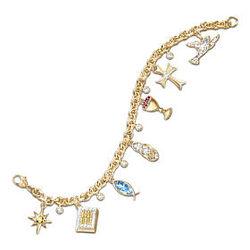 Life of Jesus Inspirational Charm Bracelet
