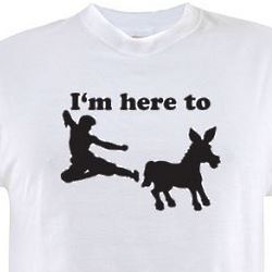 I'm Here To Kick T-Shirt