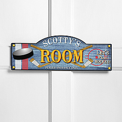 Personalized Power Play Kid's Room Sign