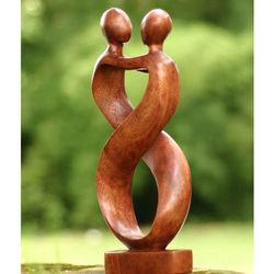 Heart to Heart Wood Sculpture