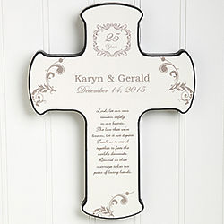 Personalized Our Anniversary Blessing Wall Cross