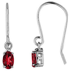 Ruby Earrings in 10K White Gold