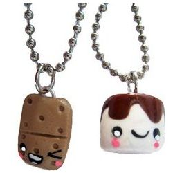 S'mores Campfire Best Friends Necklace Set