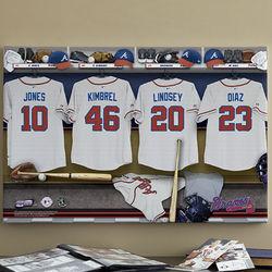 Atlanta Braves 16x24 Personalized Locker Room Canvas