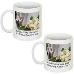 40th Wedding Anniversary Coffee Mugs