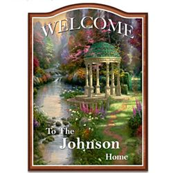 Thomas Kinkade Personalized Welcome Sign