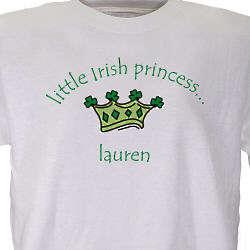 Little Irish Princess Personalized Youth T-Shirt