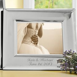 Horizontal Personalized Elegant Silver Picture Frame