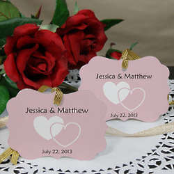 Personalized Wedding Favor Heart Ornament