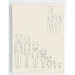 Personalized Vertical Family Members Wall Canvas