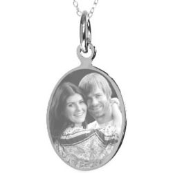 Custom Photo Stainless Steel Oval Tag Pendant