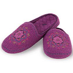 Raspberry Henna Boiled Wool Slippers