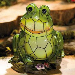 Frog Solar Garden Statue
