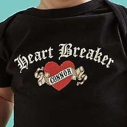 Baby's Personalized Heartbreaker Bodysuit
